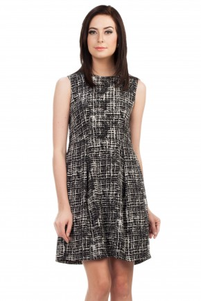 Laurel Dress in Black Print