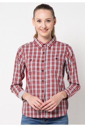 Kari Shirt in Red Grey
