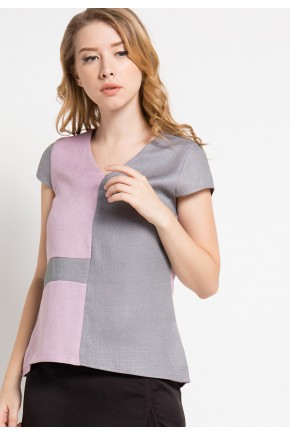 Eila Blouse in Pink-Grey