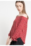 Freya Blouse in Red Floral Print