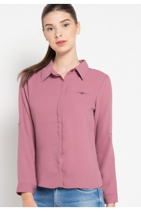 Nell Shirt in Rose Pink