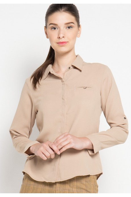 Nell Shirt in Beige