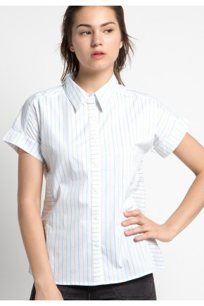 Tabia Shirt in Blue White