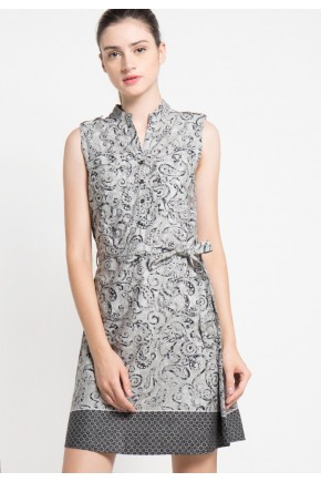 Bria Dress in Grey