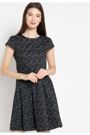 Mattie Dress in Black Print