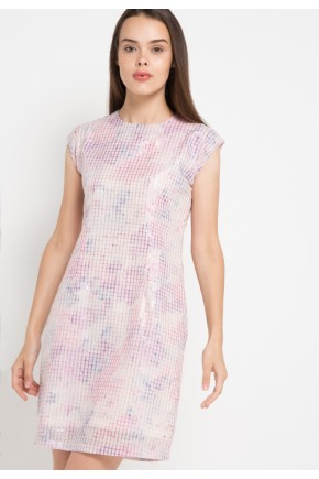 Pax Dress in Pink and Cream