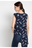 Charmie Blouse in Navy Print