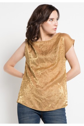 Hunny Blouse in Gold