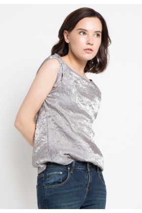 Hunny Blouse in Silver