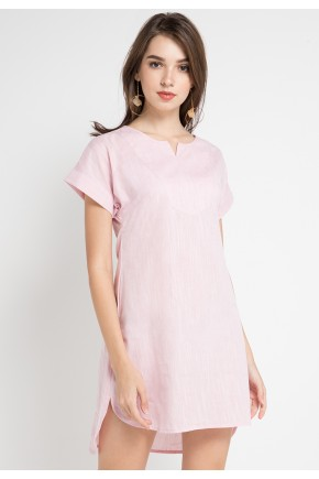 Sicily Shirt Dress in Pink