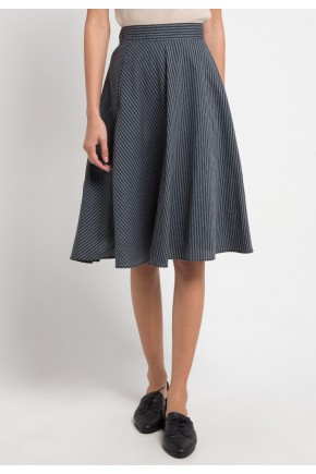 Kim Skirt in Black Stripes