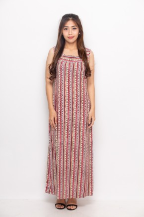 Ivana Maxi Dress In Red