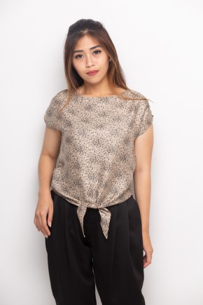 Nell Blouse Print In Brown