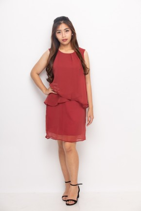 Vega Dress in Red