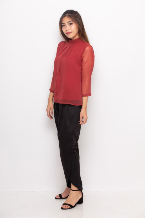 Vita Blouse In Red