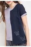 Ellen Blouse In Pink And Grey