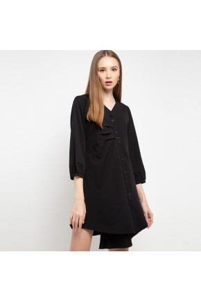 Tinsley Assymetrical Dress In Black