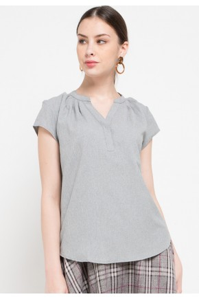 Orli Blouse In Grey