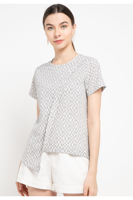 Sophistix Russ Blouse in Grey
