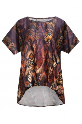 Sophistix Elio Blouse In Dark Purple Print