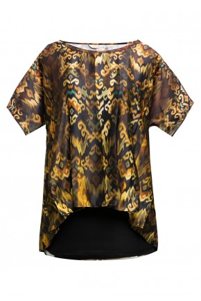 Sophistix Elio Blouse In Brown Print