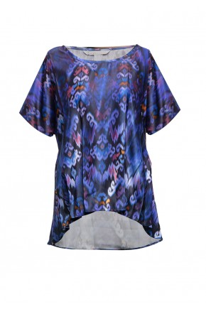 Sophistix Elio Blouse In Navy Print