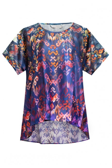 Sophistix Elio Blouse In Purple Print