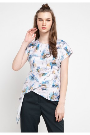 Sophistix Luca Blouse in Blue Print