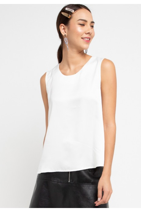 Sharin Blouse With Lace In OffWhite